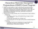 hazardous materials emergency preparedness hmep grant program
