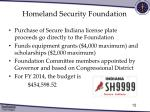 homeland security foundation