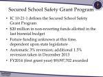 secured school safety grant program