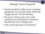 strategic grant proposals