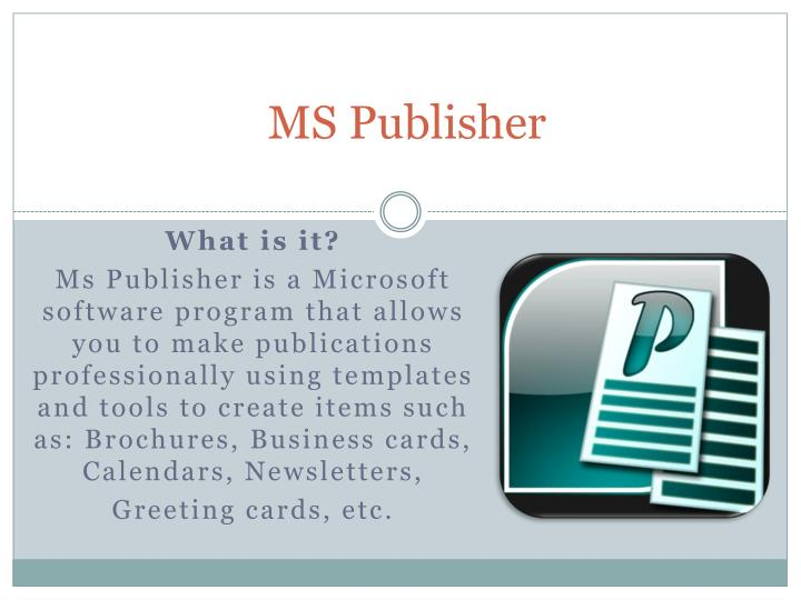 ms publisher n.