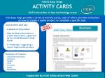 intel easy steps activity cards