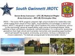 south gwinnett jrotc