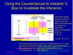 using the counterfactual to interpret bias to invalidate the inference