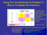using the counterfactual to interpret bias to invalidate the inference1