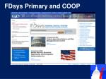 fdsys primary and coop