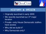history origin