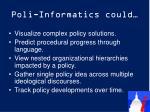 poli informatics could