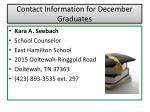 contact information for december graduates