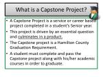 what is a capstone project