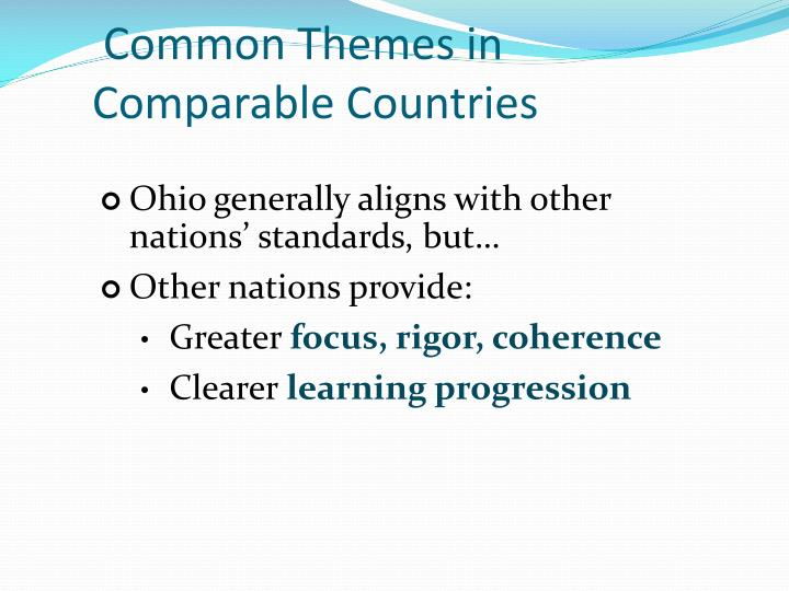 Common Themes in