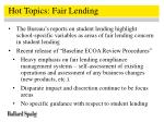 hot topics fair lending