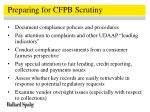 preparing for cfpb scrutiny