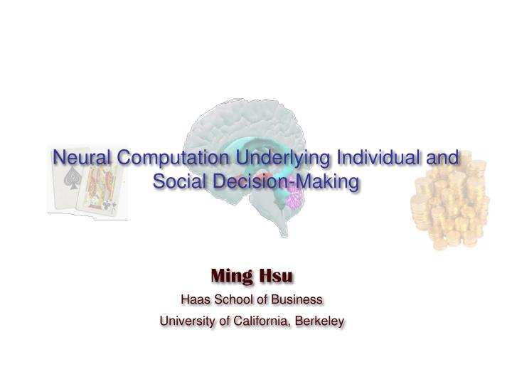 neural computation underlying individual and social decision making n.