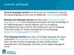 learner pathways