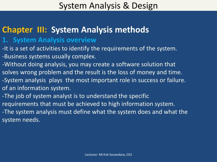 system analysis and design midterm Midterm exam friday, may 6, 2011  t / f suppose you are able to find the true revealing sub-domains for a software system, and you design unit tests for it.