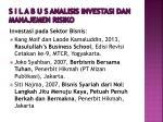 s i l a b u s analisis investasi dan manajemen risiko10