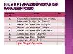 s i l a b u s analisis investasi dan manajemen risiko4