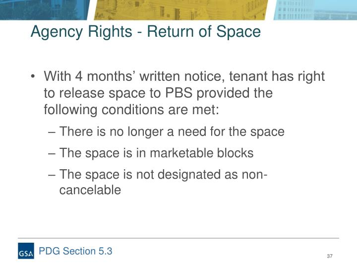 Agency Rights - Return of Space