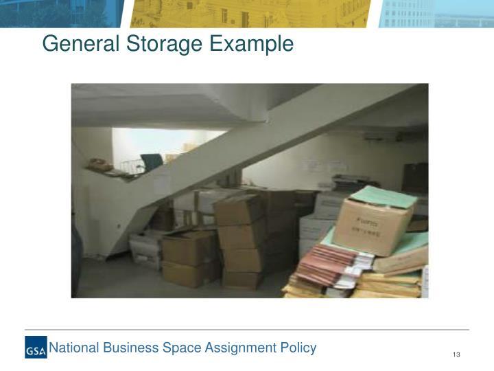 General Storage Example