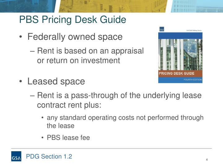 PBS Pricing Desk Guide
