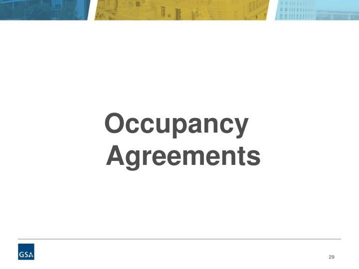 Occupancy Agreements