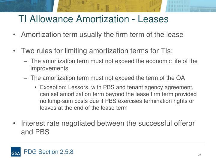 TI Allowance Amortization - Leases
