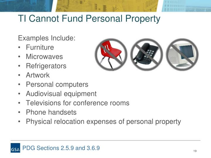 TI Cannot Fund Personal Property
