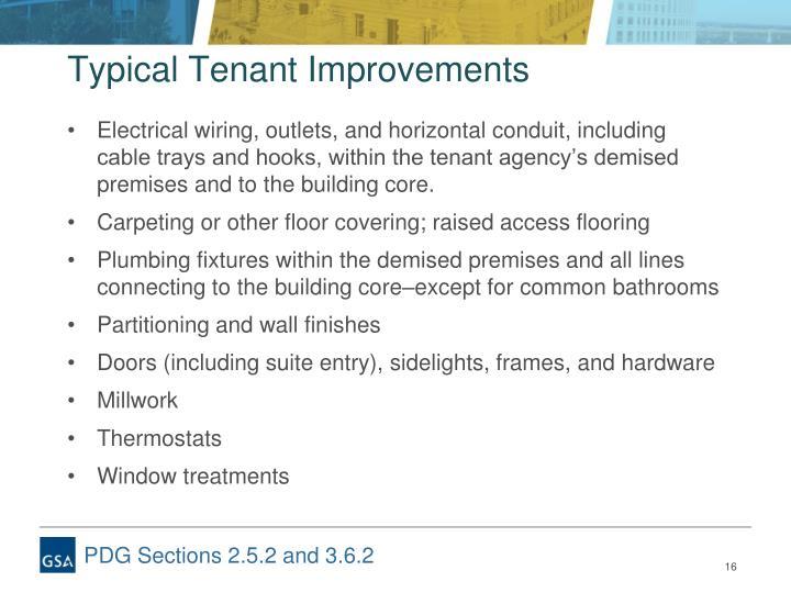 Typical Tenant Improvements