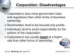 corporation disadvantages