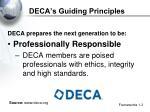 deca s guiding principles