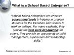 what is a school based enterprise