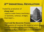 2 nd industrial revolution