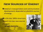 new sources of energy