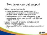 two types can get support