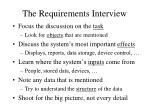 the requirements interview