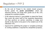 regulation fyp 2