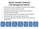 master sample tracking site management system