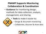 pnamp supports monitoring collaboration coordination