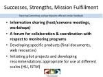 successes strengths mission fulfillment