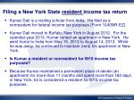 filing a new york state resident income tax return