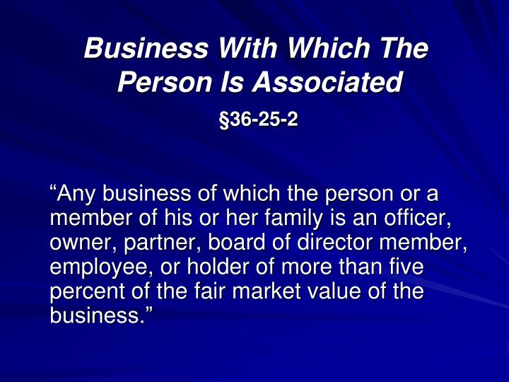 Business With Which The