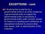 exceptions cont4