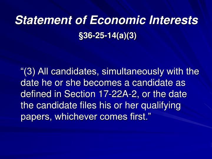 Statement of Economic Interests