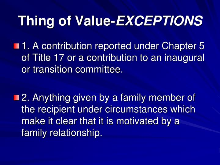 Thing of Value-