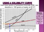 using a solubility curve