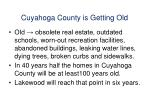 cuyahoga county is getting old