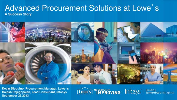 advanced procurement solutions at lowe s a success story n.