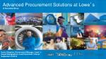 advanced procurement solutions at lowe s a success story