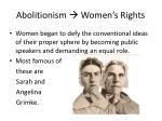 abolitionism women s rights
